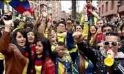 Colombianos estão otimistas para jogo contra o Brasil