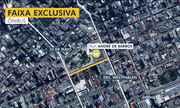 Nova faixa exclusiva para ônibus é implantada em Curitiba