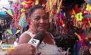 Produtos de carnaval atraem feirantes para a feira da sulanca