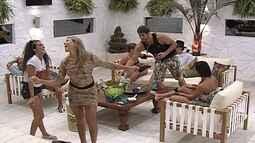 Fabiana ensina Noemí a sambar