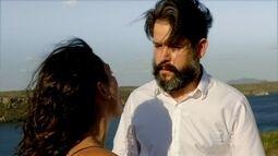 Depois de saber que Antônia está grávida de Leandro, Jaime cai de precipício