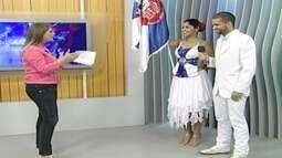 Mestre-sala e porta-bandeira da Imperatriz Leopoldinense participa ao vivo do JA