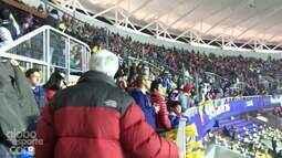 <p>  Confira o clima no estádio para a semifinal entre Argentina e Paraguai.</p>