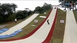 Brasileiros improvisam estrutura para treinos de Snowboard