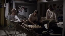Lobão, Heideguer e Luiz convivem na prisão