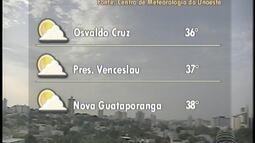 Calor deve predominar no Oeste Paulista