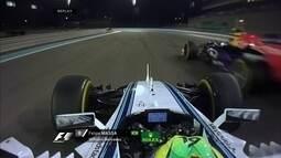 Massa ultrapassa Kvyat e assume a 8ª posição no GP de Abu Dhabi