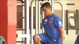 Wendell Lira treina no Vila Nova dando sequencia a pré temporada