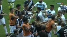 Jogando em casa o Grêmio empatou com o Danúbio em amistoso quente