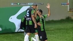 O gol de América-MG 1 x 0 Figueirense pela 1ª rodada do Grupo C da Primeira Liga