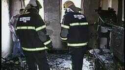 Idoso morre carbonizado após incêndio em apartamento em Uberaba