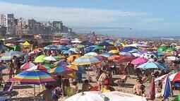 Sábado de sol leva milhares de pessoas às praias do RS