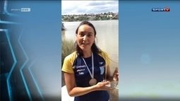 Poliana Okimoto agradece apoio da torcida na Copa do Mundo de Águas Abertas