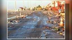 Grande acúmulo de lixo é registrado nos dias de Carnaval na Praia do Forte em Cabo Frio