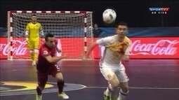 Os gols de Portugal 2 x 6 Espanha pelo Europeu de Futsal