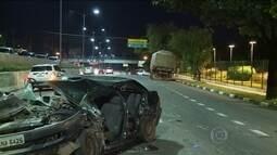 Uma pessoa morre e duas ficam feridas em acidente no Corredor Norte-Sul