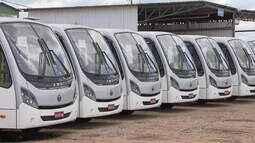 Recém-comprados no DF, micro-ônibus estão parados há 50 dias