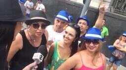'Domingo está bonito', garante grupo de amigas que acompanha desfile do Monobloco