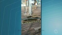 Telespectador flagra buraco em cais de Angra dos Reis, RJ