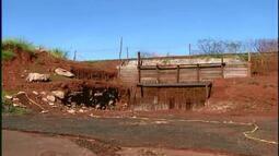 Obra do viaduto Claricinda é interrompida mais uma vez em Uberaba