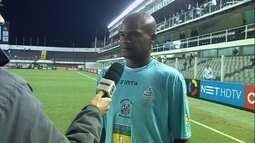 """Goleiro Zé Maria valia atuação do Santos-AP: """"Nosso time mostrou que sabe jogar"""""""