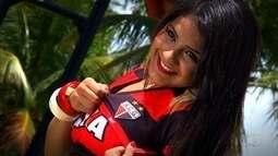 Skarllet Rosendo, representante do Atlético-GO, é eleita Musa do Goianão