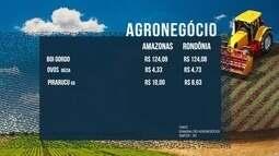 Veja a comparação de valores de alguns produtos da Região Norte