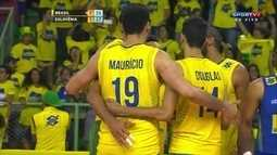 Momentos marcantes: Brasil 3 x 1 Eslovênia pelo Amistoso Internacional de vôlei masculino
