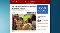 Alto Tietê termina abril com 313 vagas de emprego fechadas
