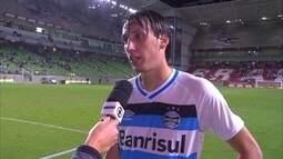 """Pedro Geromel fala sobre a melhora da defesa do Grêmio: """"Isso é trabalho"""""""