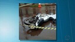 Motociclista morre após bater em carro durante chuva em Dourados, MS