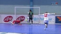 O gol de Floripa Futsal 1 x 0 Marreco Futsal pela Liga Nacional de Futsal