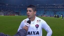 """Diego Renan fala de vencer o Grêmio em casa: """"Viemos com a proposta de vencer"""""""