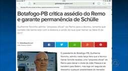 Após assédio do Remo, Itamar Schülle permanece no Botafogo-PB
