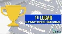 Goiás é destaque nacional em geração de empregos'