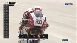 Takaaki Nakagami faz a pole position da etapa da Alemanha da Moto 2