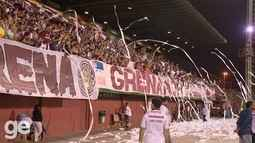 Contraste entre a festa da torcida da Desportiva e a lamentável briga no final do jogo