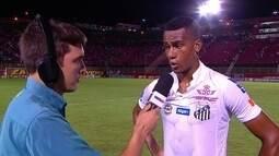 """Copete, sobre bom início com a camisa do Santos: """"Quero fazer história"""""""