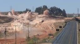 Via Epia é novamente interditada para implosão de rocha