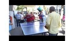 RJ Olímpico promove competição de tênis de mesa entre moradores de Nova Friburgo