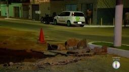 Cratera provoca lentidão em trânsito da capital potiguar