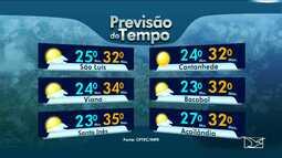 Veja a previsão do tempo para esta quinta-feira (28) de feriado no Maranhão