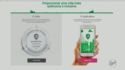 Quadro 'Facilite' mostrea aplicativos que garantem acessibilidade