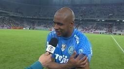 Jailson fala sobre boa atuação contra o Atlético-PR, e susto após sentir a coxa