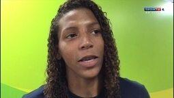 Rafaela Silva fala sobre o jogo da seleção brasileira feminina de futebol contra a Suécia