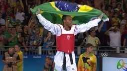 Maicon Andrade vence lutador da Grã Bretanha e conquista o bronze no taekwondo +80kg