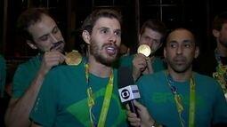 Entrevista com os jogadores da seleção masculina olímpica de vôlei