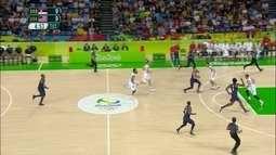 Melhores momentos: Estados Unidos 96 x 66 Servia pela final do basquete masculino
