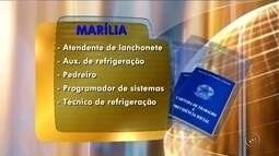 PAT de Marília e Santa Cruz do Rio Pardo oferecem vagas de emprego
