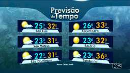 Veja a previsão do tempo para esta quinta-feira (25) no Maranhão